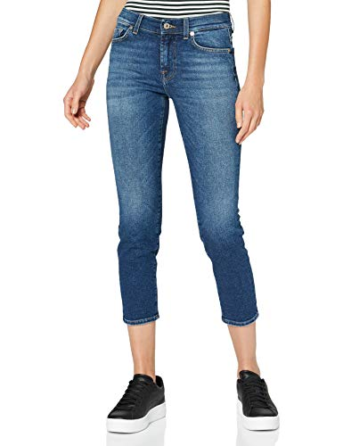 7 For All Mankind Womens Slim Jeans, MID Blue, 27