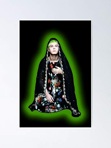 MCTEL Yung-lean Glow Poster 11.7x16.5 Inch Frame Board For Office Decor, Best Gift Dad Mom Grandmother And Your Friends