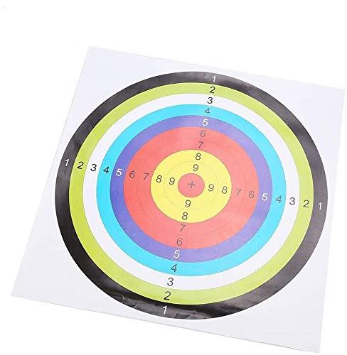 Alomejor 10 Teile Bogenschießen Ziel Papier Zielscheibe für Pfeil Bogen Schießen Jagd 42,5 * 42,5 cm
