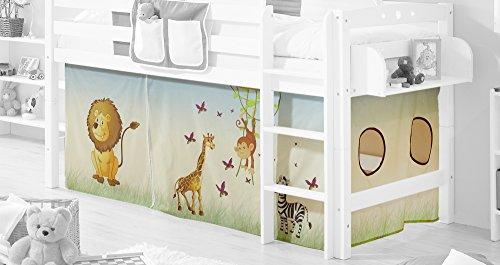 Vorhangstoff für Hoch-und Etagenbetten mit Farbauswahl, Vorhangstoff:Safari