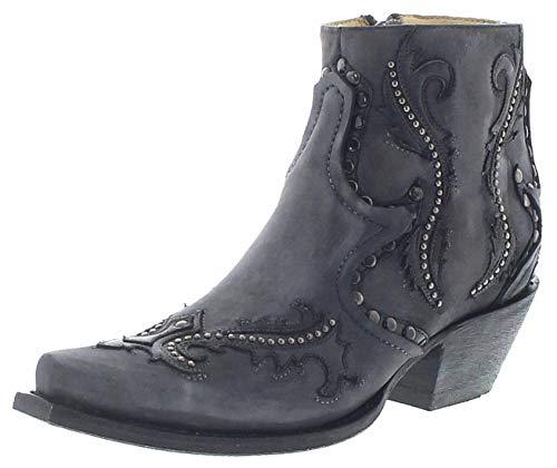 Corral Boots Damen Stiefelette G1381 Lederstiefelette Westernstiefelette Grau 40 EU