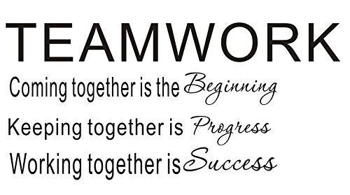 LUCKKYY Large Teamwork Motivation Inspirationa Creativity Office Wall Art Decals Quotes for Office Wall Office Family Office Inspirational Wall Decals Wall Sticker(Large-Teamwork)