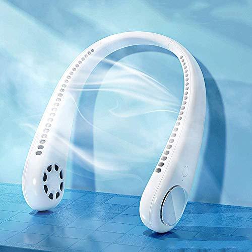 HXSM Mini Ventilador USB Ventilador De Cuello Colgante Portátil Ventilador Silencioso Ventilador para Oficina Diseño De Auriculares Blanco