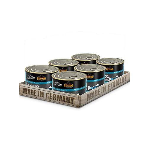 Belcando Single Protein Dose [6x200g Lachs] | Sortenreines Nassfutter für Hunde | Monoprotein Feuchtfutter