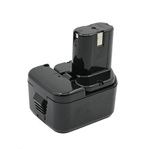 Kinon Batería de repuesto para herramientas eléctricas 12V 3.0Ah Ni-Mh para destornillador de taladro inalámbrico Hitachi EB 1212S EB 1214L EB 1214S EB 1230HL EB 1220BL EB 1220HL EB 1220HS EB 1226HL