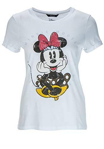 Princess goes Hollywood Damen T-Shirt Disney Minnie Weiss (10) 44
