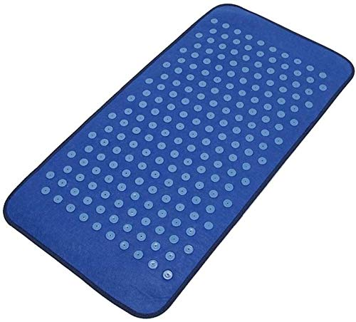 Leilims Yoga Akupunktur Mat Imitation Cobblestone Fußreflexzonenmassage Weg Stein FußMassager Kissen-Fuss-Bein Schmerzen lindern Weg Massage-Matte, Grau Massage Matte (Color : Blue)