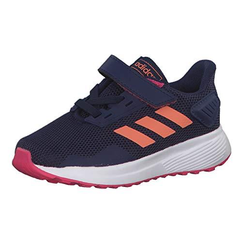 Adidas Duramo 9 I, Zapatillas de Estar por casa Unisex niños, Multicolor (Azuosc/Semcor/Rosrea 000), 19 EU