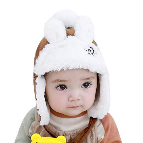 WFF Sombrero Invierno Sombreros del bebé Muchachas de los Muchachos Grueso Sombrero de la Felpa del niño Caliente Infantil Gorros con Orejeras niños de Piel Falsa Sombrero Caps Gorro de puntogorra