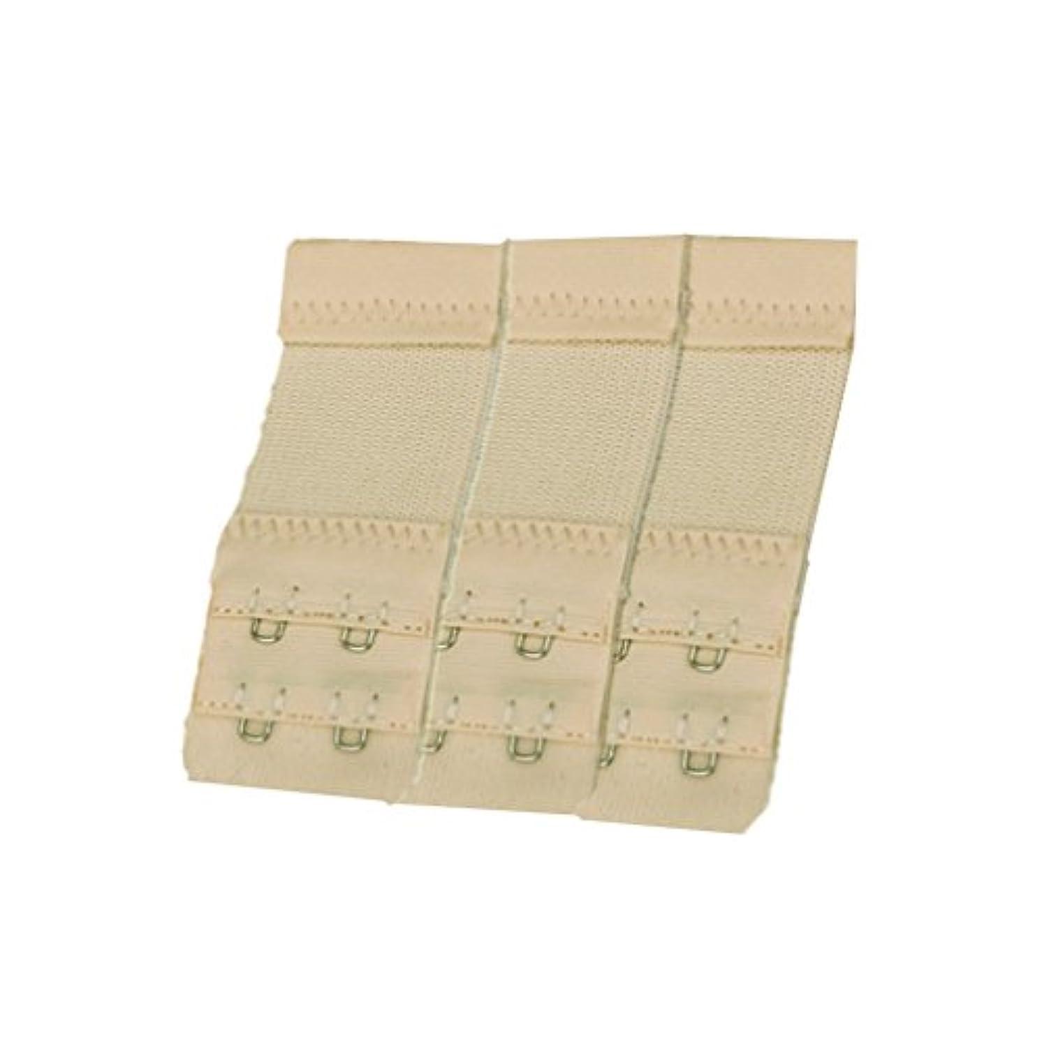 Zhiheng women's Elastic Bra Lingerie Extenders 2 Hooks 2 Rows Extension Straps (3pcs, light natural)