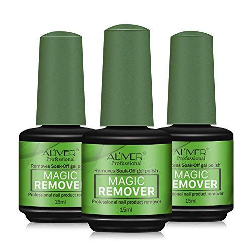 Aliver Removedor Profesional de esmalte de uñas, 3 unidades