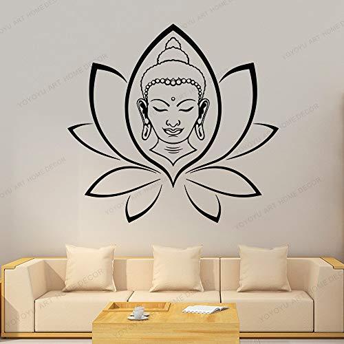wZUN Buda religioso Lotus Pegatinas de Pared de Vinilo decoración de la Sala de Estar Pintura Mural Dormitorio calcomanías de Pared decoración del hogar 42X42cm