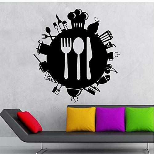 Restaurant Aufkleber Kaffee Aufkleber Eis Poster Vinyl Wandtattoos Pegatina Quadro Parede Dekor Wandbild Sushi Aufkleber 56x56cm
