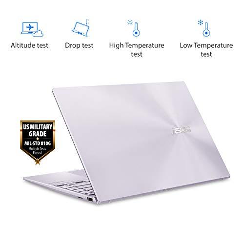 "Product Image 6: ASUS ZenBook 13 Ultra-Slim Laptop 13.3"" Full HD NanoEdge Bezel Display, Intel Core i5-1035G1 Processor, 8GB RAM, 256GB PCIe SSD, NumberPad, Windows 10 Home, Lilac Mist, UX325JA-AB51"