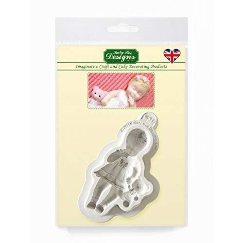 Baby Girl siliconen mal voor taartdecoratie, cupcakes, suikerwerk, snoepjes, ambachten, kaarten en klei, voedselveilig