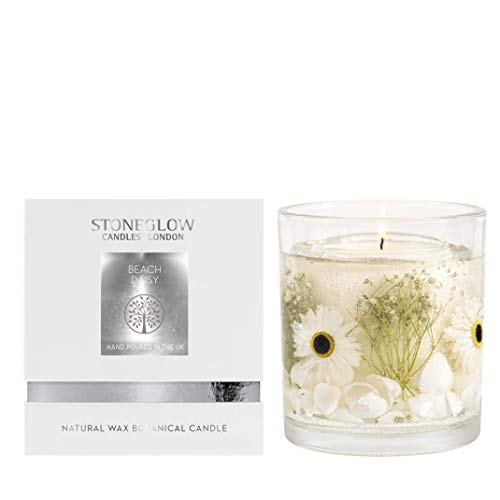 Stoneglow Natures Gift Beach Daisy Natural Wax Gel Candle