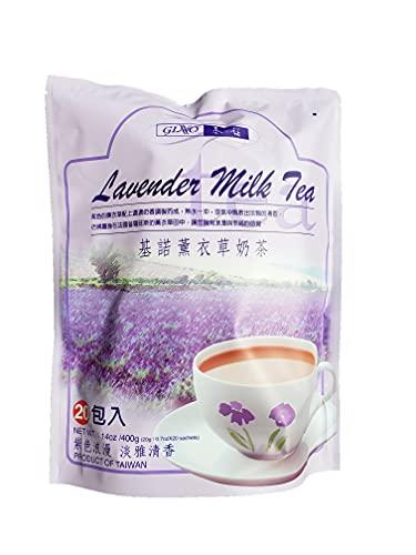 400 Gram Gino Lavender Milk Tea, 20 Sachets, Pack of 1