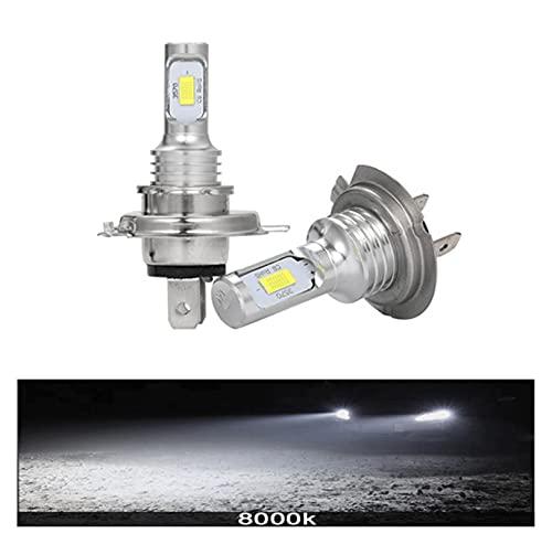 Faroles LED CSP Mini H4 H7 H8 H9 H1 H11 12000LM 80W 6000K Coche LED faros Lámparas de niebla blancas 9005 HB3 9006 HB4 Niebla bombillas ( Emitting Color : 6000K Cool White , Socket Type : H1 )