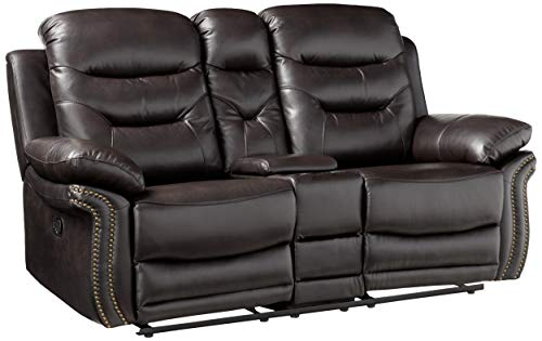 Blackjack Furniture The Andrews Collection Reclining Living Room Leather Console