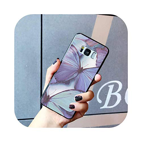 Latest Styles Art Luxury Amazing in Flight Butterflies Soft TPU Phone Cover for Samsung Galaxy S7 S6 Edge Plus S5 S9 S8 Plus case-A14-For Galaxy S6 Edge
