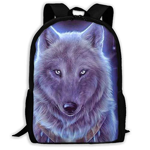 hengshiqi Mochila Backpack, Travel Backpack Laptop Backpack Large Diaper Bag - Drawing Wolf Backpack School Backpack for Women & Men
