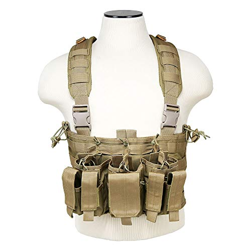 ATG Tactical Recon Rifle Pistol Magazine Pouches Chest Rig (Tan)