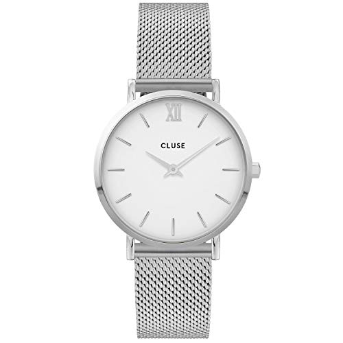 CLUSE Dames analoog kwarts horloge met roestvrij stalen armband CW0101203002