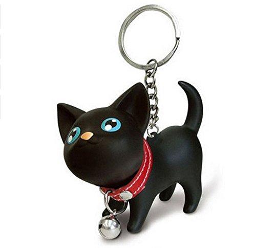 Katze mit Glocke Halsband Schlüsselanhänger Kater | Geschenk | Kinder | Frauen | Damen | Tier | Haustier | Tatze