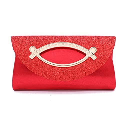 VIcoo vrouwen glitter pailletten avondtas handtas bruiloft bruid koppeling portemonnee schoudertassen - zilver