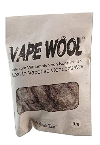 Black Leaf Vape Wool 10g - degummierte Hanffasern Wolle für den Vaporizer