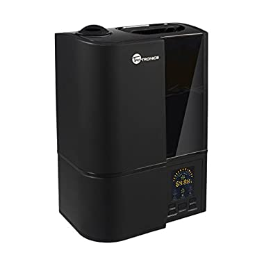 TaoTronics Cool Mist Humidifier, LED Display, 4L Ultrasonic Humidifiers for Home Bedroom, with Filter, Adjustable Mist Levels, Timer, Waterless Auto Shut-off -(4L/1.06 Gallon, US 110V) Black