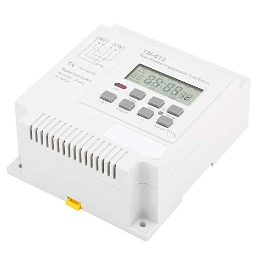 Fockety Relé de Tiempo programable, relé de Tiempo Digital Relé de Tiempo de batería Recargable incorporada, Interruptor Inteligente para Bomba de Agua Interruptor de Control de Tiempo de Motor