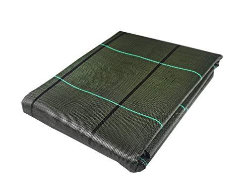 Seinec Malla Antihierbas Verde 10m² (2 x 5m). Resistente a roturas con Proteccion UV para el Control de Maleza en Jardín y Huertos Ecológicos, Ocultación. Polipropileno (PP)