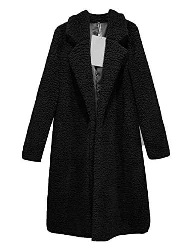 WBYFDC Abrigo De Mujer Lana De Cordero Cárdigan De Felpa De Longitud Media Chaqueta De Mujer Otoño / Invierno Suéter Suelto Cálido