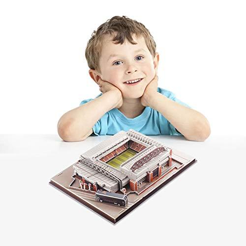 Anfield Stadium Modelo de Campo de fútbol 3D Puzzle Tridimensional Regalo Kits de Modelo de Estadio de fútbol de fama Mundial, Juguete Educativo para niños y Adultos, Regalo para niños y niñas