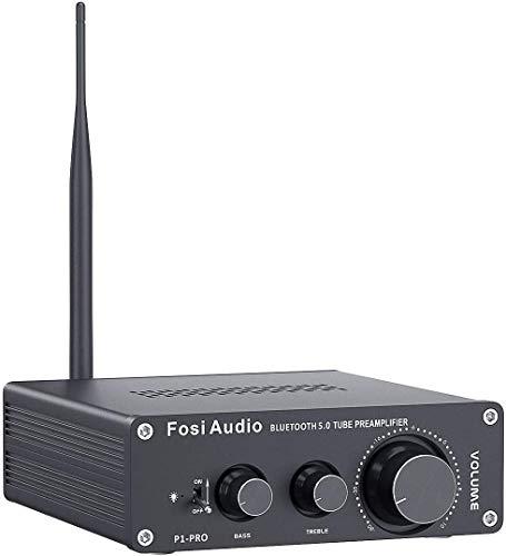 Fosi Audio P1 Pro Bluetooth 5.0 Tube Pre-Amplifier Mini Hi-Fi Stereo Buffer...
