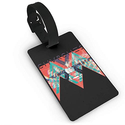 CHSUNHEY Kofferanhänger,Chvrches The Bones of What You Believe Funny Luggage Tag Initial Bag Tag Suitcase Tag Travel Bag,Travel Accessories Suitcase Tags Apply3.7X2.2in