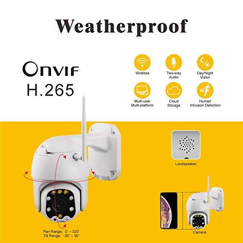 QinLL WiFi-camera, thuiscamera met IP-camera, draadloos, 1080P, HD, met optische zoom, 5-voudige audio, bidirectionele audio, bewegingsdetectie, onvif-houder, cloud-opslag, BB