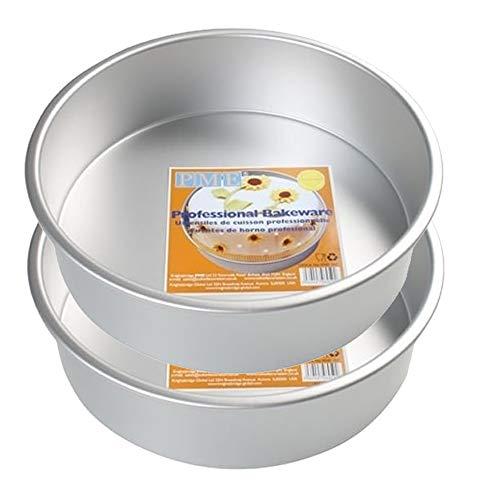 PME RND Lot de 2 moules Ronds en Aluminium anodisé 15,2 x 5,1 cm de Profondeur 15,2 cm de Large et 5,1 cm de Profondeur