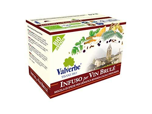 Valverbe Tisana Miscela Di Spezie Vin Brulé Biologico 20 Filtri - Pacco da 6 - 180 g