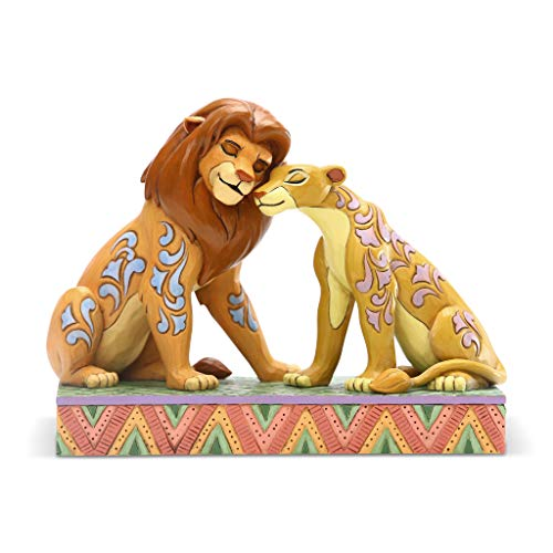 Enesco Disney Traditions by Jim Shore The Lion King Simba and Nala Snuggling Figurine, 5.12 Inch, Multicolor