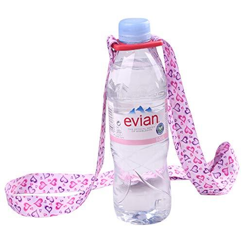 Delleu Einstellbare Wasserflasche Sling Trinkflasche Sling Universal Wasserflasche Träger Flasche Strap Für Tägliches Gehen, Radfahren, Wandern