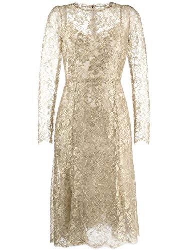 DOLCE E GABBANA Luxury Fashion Damen F6H1HTHLM02S0997 Gold Polyester Kleid | Frühling Sommer 20