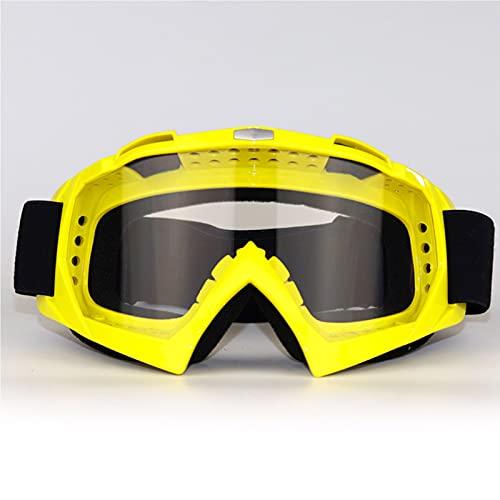 CYYS Gafas de Motocicletas a Prueba de Polvo y Rayas con Gafas de Motocicletas Blandas, Gafas de Montar al Aire Libre y Gafas a Prueba de Viento