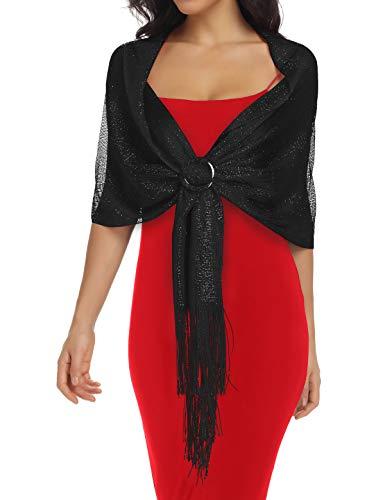 Shawls and Wraps, Black Dress