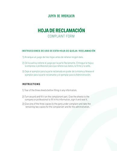 Libro Hojas de Reclamación de Andalucía (10 juegos)