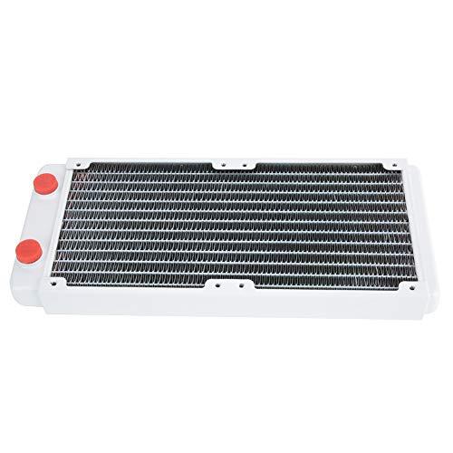 Computer Radiator, Waterkoeling Raditor, Witte Koeling Koperen Koellichaam met 12 Pijpen Spuitoppervlak