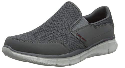 Skechers Men's Equalizer Persistent Slip-On Sneaker, Charcoal, 11.5 M US