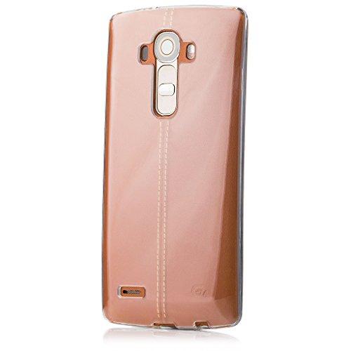 LG G4   iCues Transparent TPU Hülle Klar   [Bildschirm Schutzfolie Inklusive] Transparent Klarsichthülle Durchsichtig Klare Klarsicht Silikon Gel Schutzhülle Hülle Cover Schutz