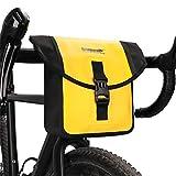 Rhinowalk Impermeable Bolsa de Manillar de Bicicletas de Carretera y de Montaña para Ciclismo con Correa de Hombro (Amarillo)